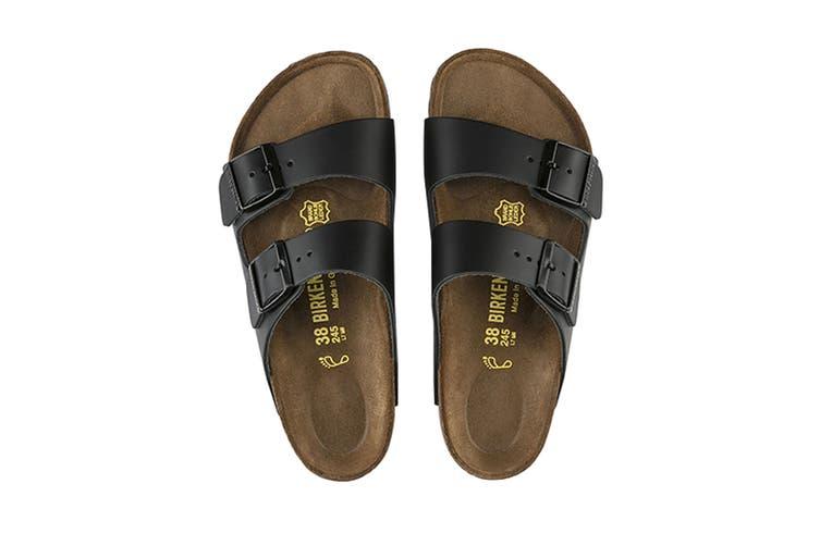 Birkenstock Unisex Arizona Leather Narrow Fit Sandal (Black, Size 40 EU)
