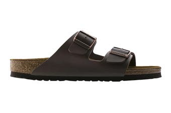 Birkenstock Arizona Birko-Flor Narrow-Fit Sandal (Dark Brown, Size 40 EU)