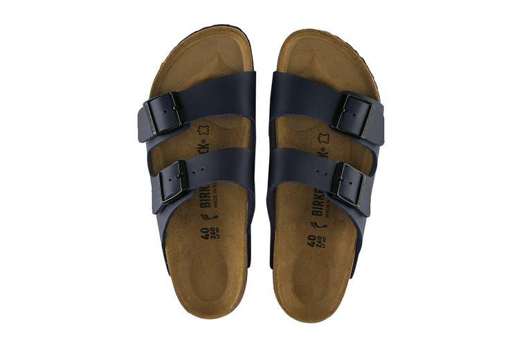 Birkenstock Arizona Birko-Flor Narrow-Fit Sandal (Blue, Size 42 EU)