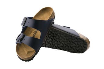Birkenstock Arizona Birko-Flor Narrow-Fit Sandal (Blue, Size 38 EU)