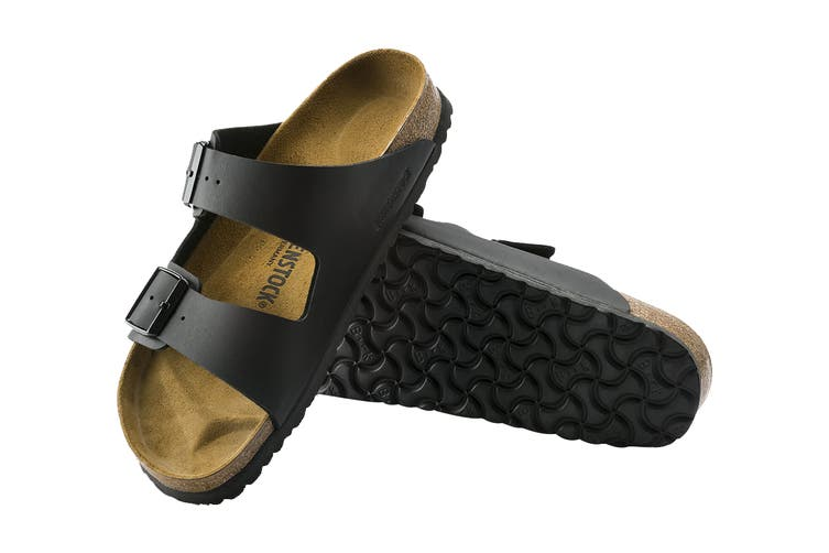 Birkenstock Unisex Arizona Birko-Flor Narrow-Fit Sandal (Black, Size 36 EU)