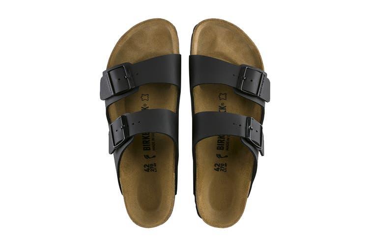 Birkenstock Unisex Arizona Birko-Flor Narrow-Fit Sandal (Black, Size 40 EU)