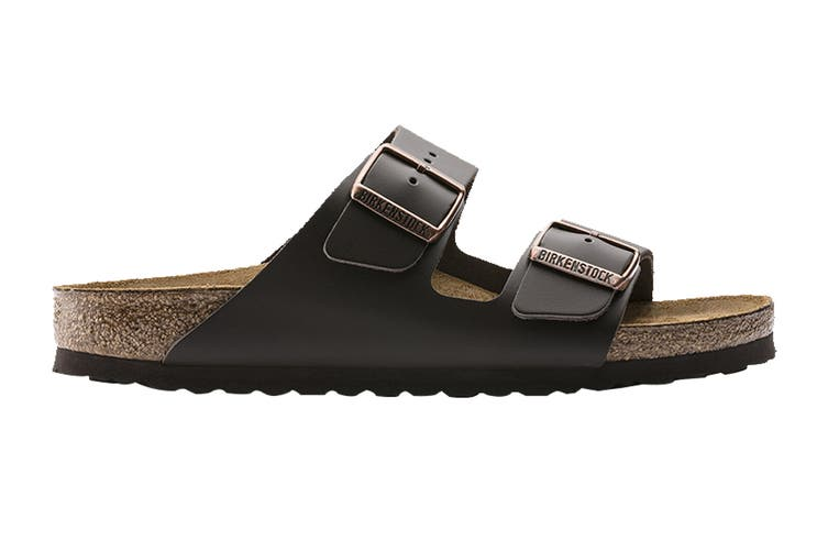 Birkenstock Unisex Arizona Oiled Leather Narrow Fit Sandal (Habana, Size 40 EU)