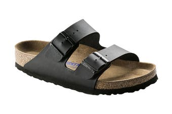 Birkenstock Arizona BF SFB Regular Fit Sandal (Black, Size 43 EU)