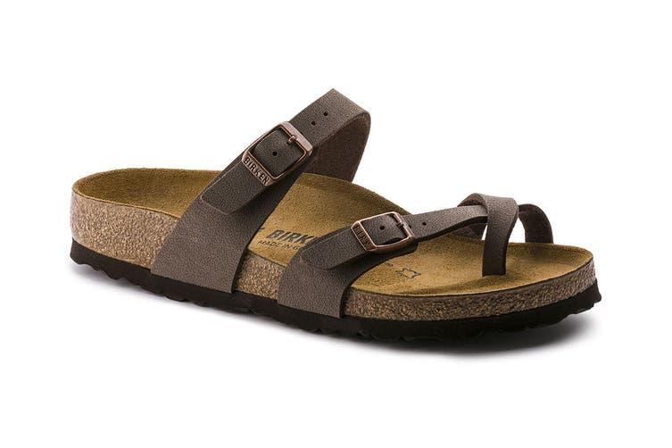 Birkenstock Women's Mayari Birko-Flor Nubuck Regular Fit Sandal (Stone, Size 39 EU)