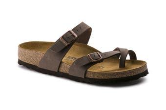 Birkenstock Women's Mayari Birko-Flor Nubuck Regular Fit Sandal (Stone, Size 40 EU)