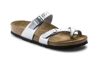 Birkenstock Women's Mayari Birko Flor Narrow Fit Sandal (Silver)