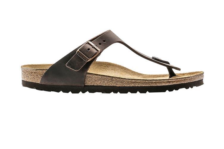 Birkenstock Unisex Gizeh Oiled Leather Thong (Habana, Size 39 EU)