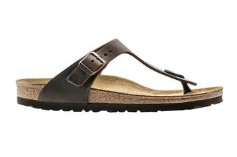 Birkenstock Unisex Gizeh Oiled Leather Thong (Habana, Size 36 EU)