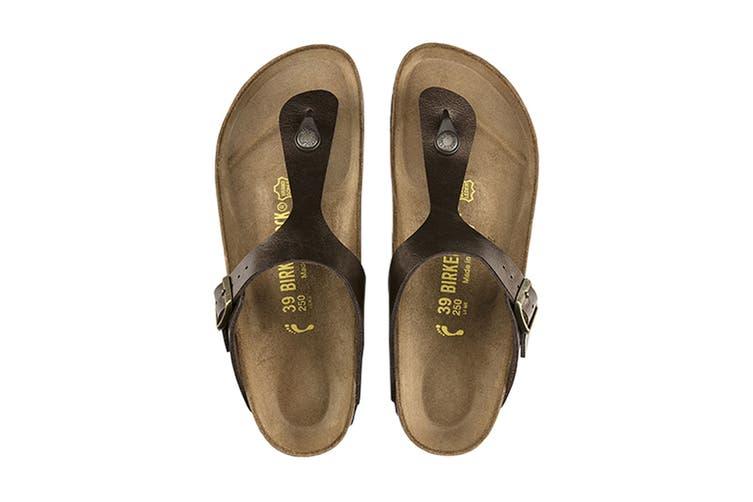 Birkenstock Women's Gizeh Birko-Flor Narrow Fit Sandal (Graceful Toffee, Size 36 EU)