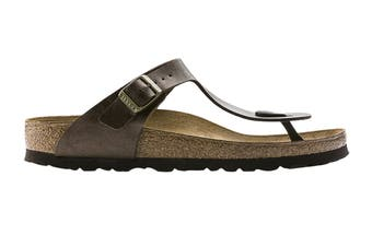 Birkenstock Women's Gizeh Birko-Flor Narrow-Fit Sandal (Graceful Toffee, Size 37 EU)