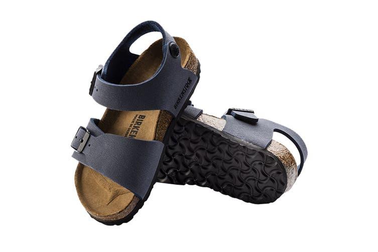 Birkenstock Kids New York Birko-Flor Narrow Fit Sandal (Blue, Size 27 EU)