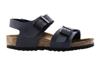 Birkenstock Kids New York Birko-Flor Narrow Fit Sandal (Blue, Size 28 EU)