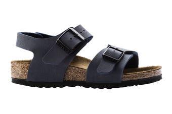 Birkenstock Kids New York Birko-Flor Narrow Fit Sandal (Blue, Size 33 EU)