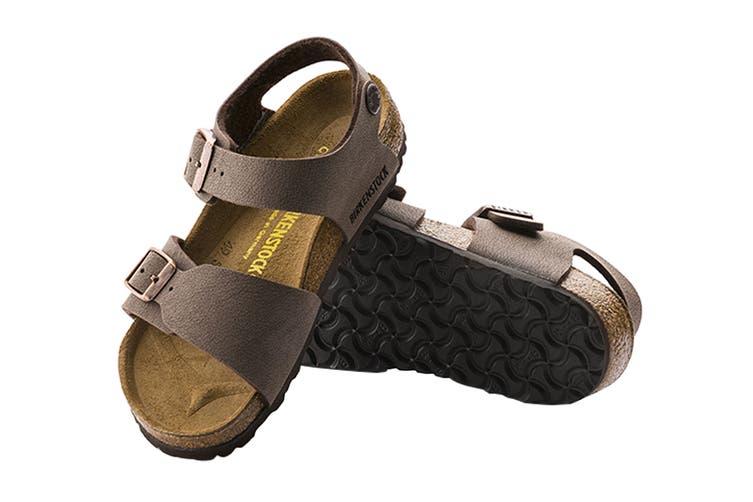 Birkenstock Kids New York Birko-Flor Narrow Fit Sandal (Mocha, Size 31 EU)