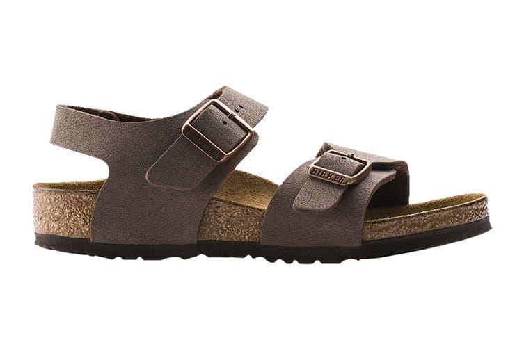 Birkenstock Kids New York Birko-Flor Narrow Fit Sandal (Mocha, Size 33 EU)