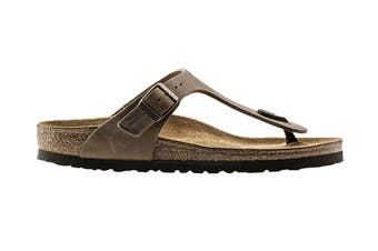Birkenstock Gizeh Oiled Leather Regular Fit Sandal (Tobacco Brown)