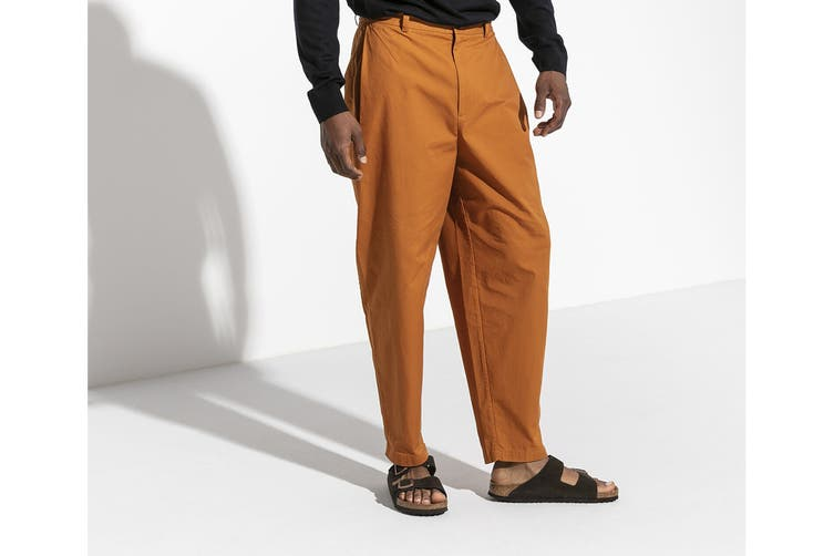 Birkenstock Arizona Suede Leather Soft Footbed Regular Fit Sandal (Mocha, Size 41 EU)