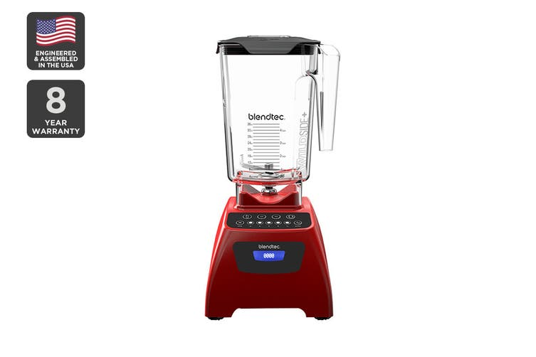 Blendtec 1560W Classic 575 Wildside+ Blender with 5+ Pulse Speed - Poppy Red (C575B3519A-AUNZ)