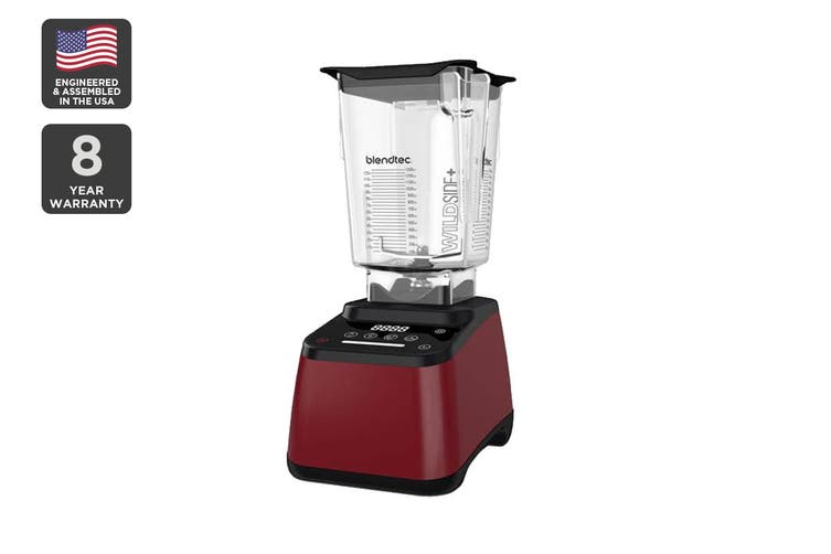 Blendtec 1560W Designer 625 Wildside+ Blender with Touch Screen - Pomegranate (D625B3526A1A-AUNZ)