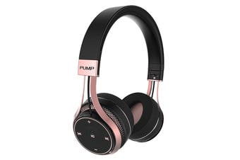 BlueAnt Pump SOUL Wireless Sports On Ear HD Headphones - Black/Rose Gold