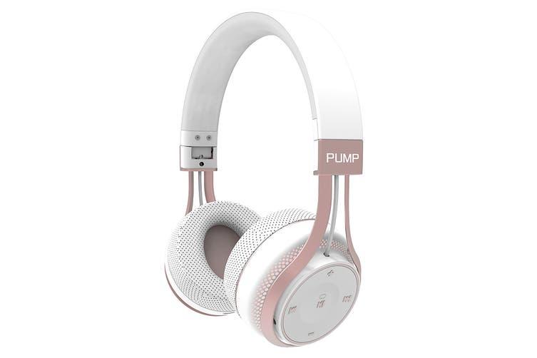 BlueAnt Pump SOUL Wireless Sports On Ear HD Headphones - White/Rose Gold