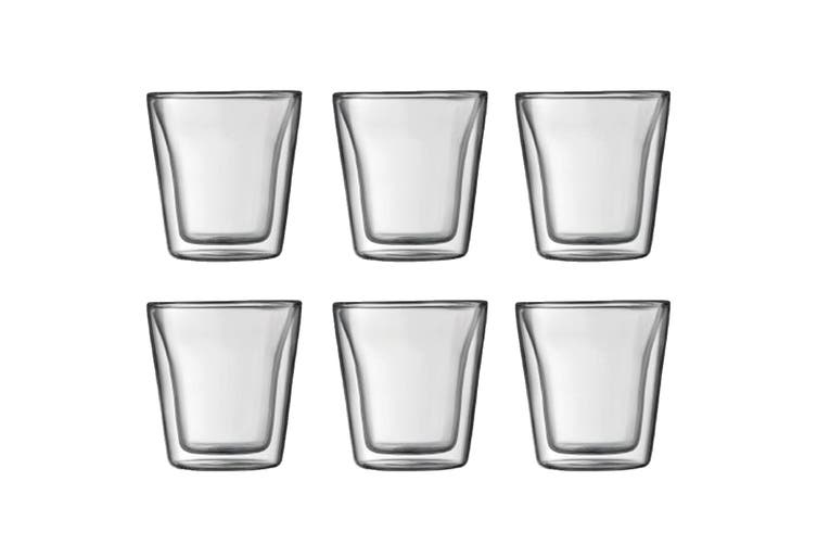 Bodum Canteen 6 Piece Glass Double Wall - Small, 0.1L, 3 oz (10108-10-12)