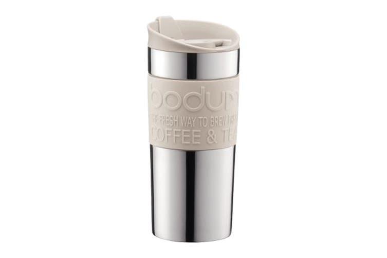 Bodum Travel Mug Stainless Steel Vacuum Travel Mug - White 0.35 L, 12 oz (11068-913)