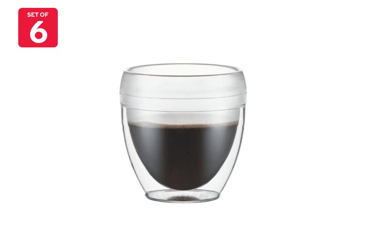 Bodum Pavina Outdoor 6 Piece Double Wall Tumbler - 0.25L, 8oz (11848-10-12)