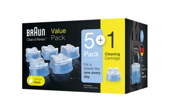 Braun 5 + 1 Clean & Renew Refill Cartridges Value Pack (81672893)