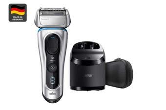 Braun Series 8 8370cc Wet/Dry Electric Cordless Electric Foil Shaver/Razor - Silver (81701741)