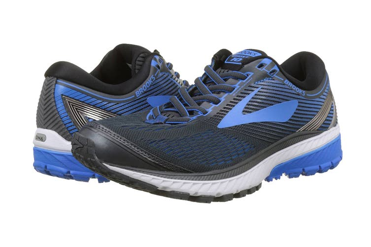 Brooks Men's Ghost 10 Running Shoe (Ebony/Metallic Charcoal/Electr, Size 12 US)