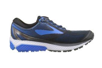 Brooks Men's Ghost 10 Running Shoe (Ebony/Metallic Charcoal/Electr)