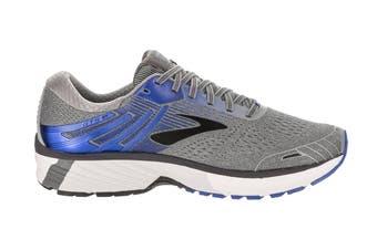 Brooks Men's Adrenaline GTS 18 Running Shoe (Grey/Blue/Black, Size 10 US)