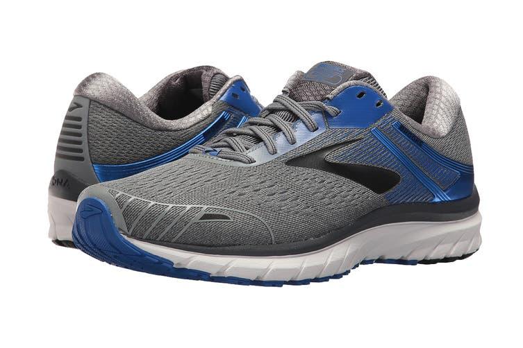 Brooks Men's Adrenaline GTS 18 Running Shoe (Grey/Blue/Black, Size 11.5 US)