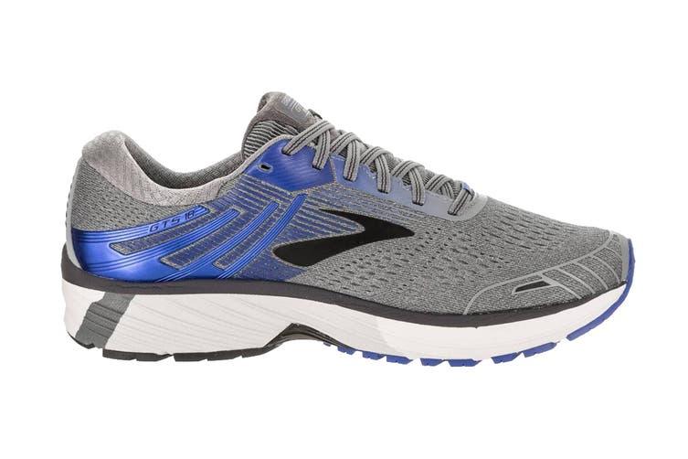 Brooks Men's Adrenaline GTS 18 Running Shoe (Grey/Blue/Black, Size 8.5 US)