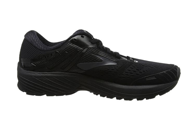 Brooks Men's Adrenaline GTS 18 Running Shoe (Black/Black, Size 8 US)