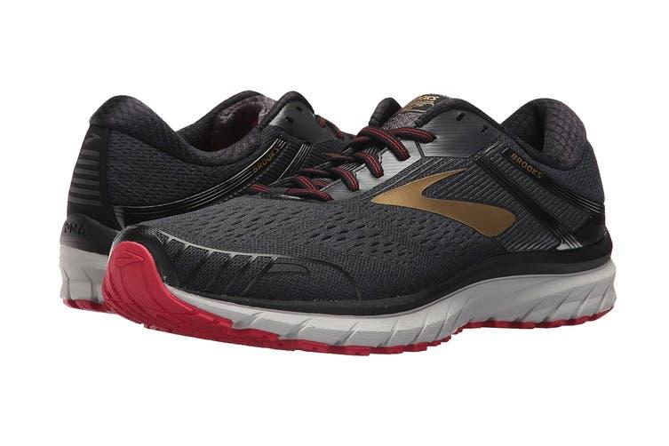 Brooks Men's Adrenaline GTS 18 Running Shoe (Black/Gold/Red, Size 8 US)