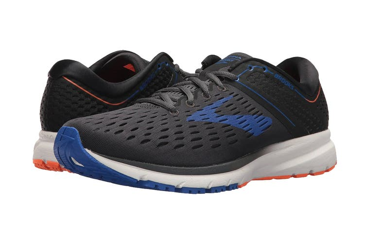 Brooks Men's Ravenna 9 Running Shoe (Ebony/Blue/Orange, Size 11 US)