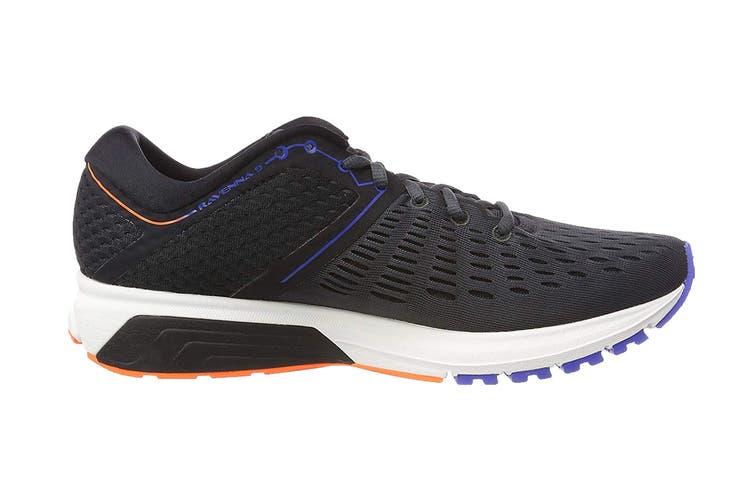 Brooks Men's Ravenna 9 Running Shoe (Ebony/Blue/Orange, Size 8 US)