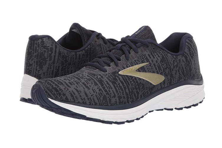 Brooks Men's Signal Running Shoe (Navy/Ebony/Gold, Size 10 US)