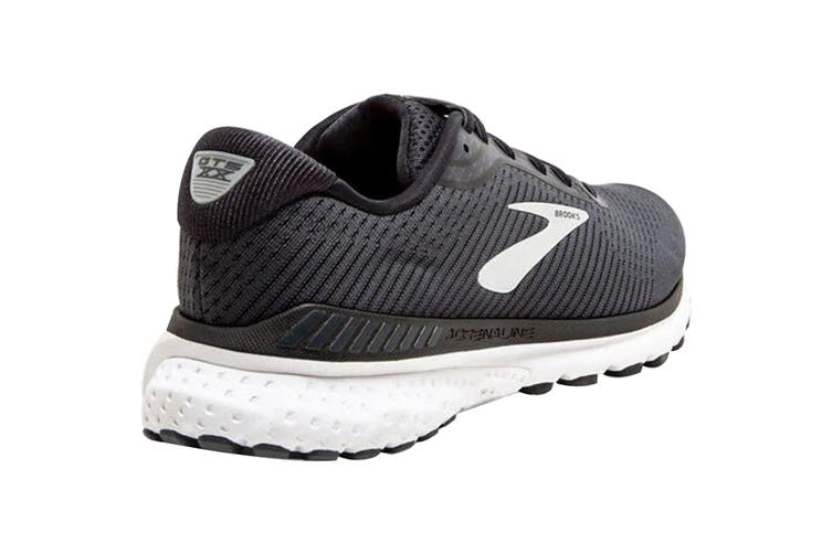 Brooks Men's Adrenaline GTS20 Running Shoe (Black/Grey/Ebony, Size 8)