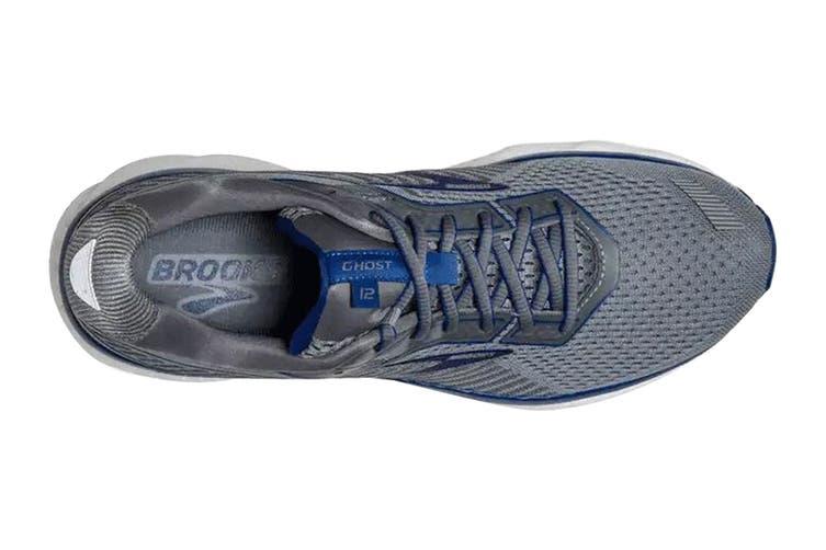 Brooks Men's Ghost 12 Running Shoe (Grey/Alloy/Blue, Size, 10.5)