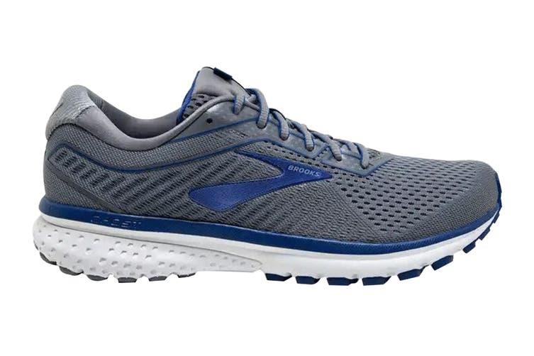 Brooks Men's Ghost 12 Running Shoe (Grey/Alloy/Blue, Size, 9.5)