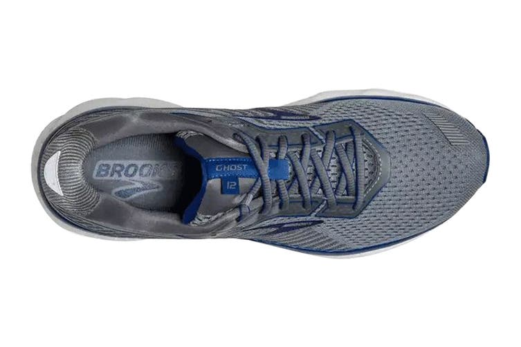 Brooks Men's Ghost 12 Running Shoe (Grey/Alloy/Blue, Size, 9)