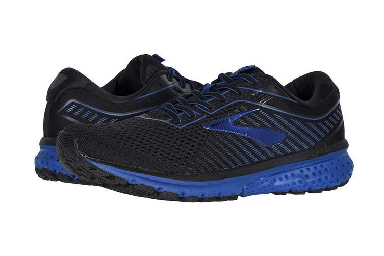 Brooks Men's Ghost 12/SP20 Running Shoe (Black/True Blue/Black, Size 10.5 US)
