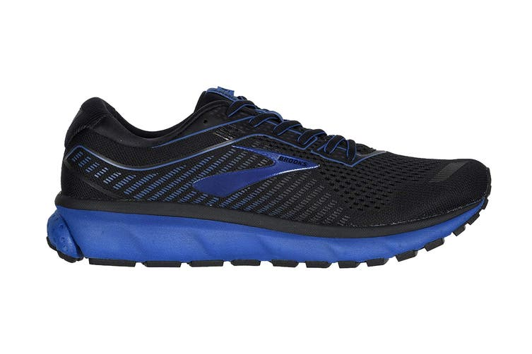 Brooks Men's Ghost 12/SP20 Running Shoe (Black/True Blue/Black, Size 7.5 US)