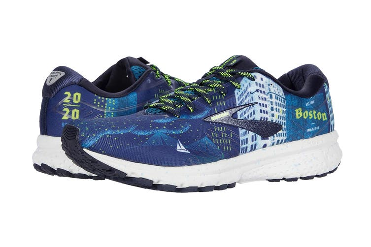 Brooks Men's Ghost 12 Running Shoe (Navy/Blue/Nightlife, Size 9 US)