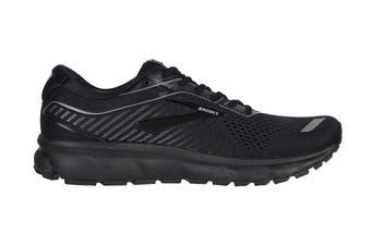 Brooks Men's Ghost 12 Running Shoe (Black/Grey, Size 11 US)