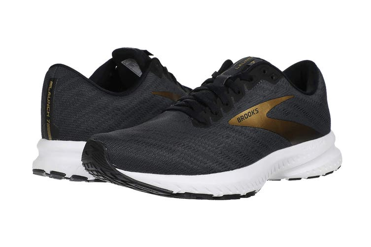Brooks Men's Launch 7 Running Shoe (Ebony/Black/Gold, Size 7.5 US)